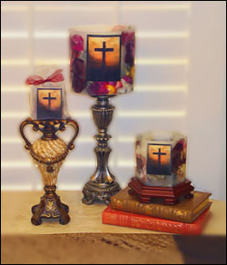 Memorial Cross Candles Gifts